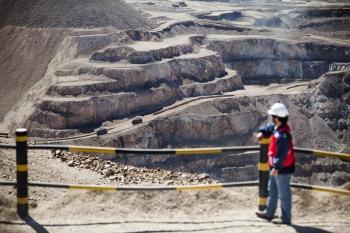 Mine viewing platform, Mantos Blancos, Chile