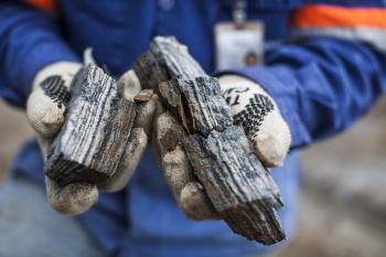 Close up of iron ore sample, Amapa iron ore mine, Brazil