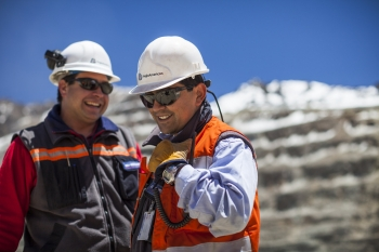 Mine workers, Los Bronces, Chile