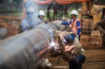 Construction of the Minas Rio pipeline, Brazil