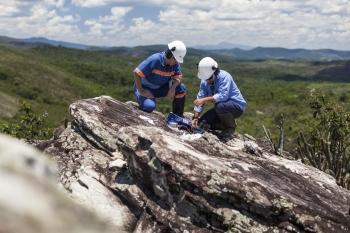 Geological survey team, Minas Rio, Brazil