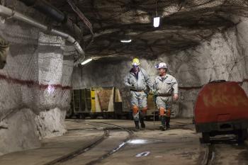 Training shaft, Thembalani platinum mine, South Africa