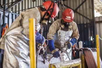 Preparing processed copper, Mantos Blancos, Chile