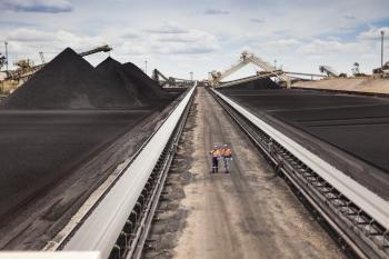 Product stockpile, Foxleigh mine, Australia