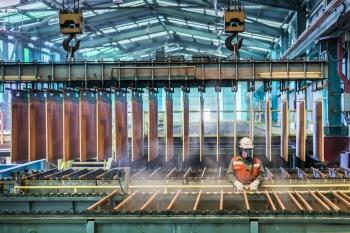 Copper processing facility, Mantos Blancos, Chile
