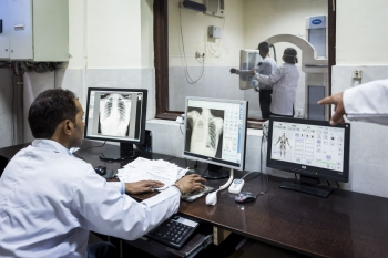 TB patient X-ray department of the National Institute of Tuberculosis and Respiratory Diseases, New Delhi.
