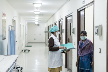 An MDR-TB isolation ward at the National Institute of Tuberculosis and Respiratory Diseases, New Delhi.
