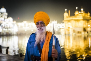 Guard at The Golden Temple, Amritsar