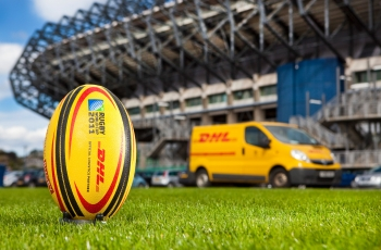 Rugby World Cup promtion, for DHL. Murrayfield, Scotland