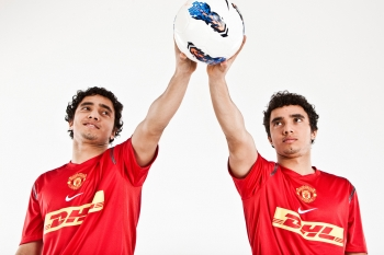 Fabio da Silva and Rafael da Silva, Manchester United, for DHL