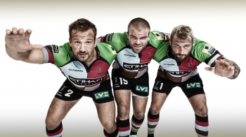 Paul Doran Jones, Rob Buchanan and Joe Marler, Harlequins, for DHL