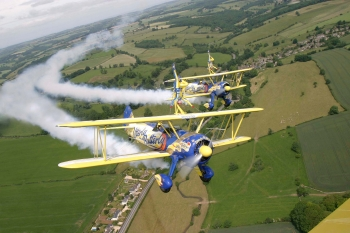 Utterly Butterly Barnstormers wingwalking, Wiltshire