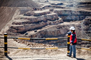 Mine viewing platform, Mantos Blancos, Chile, for Anglo American