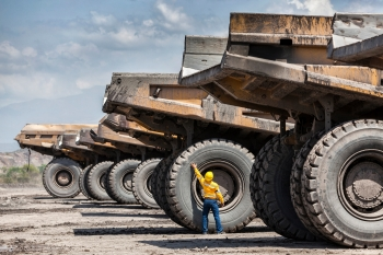 Mining vehicle inspection, Columbia, for Anglo American