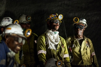 Shift meeting, Greenside colliery, South Africa, for Anglo American